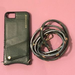 Bandolier case with a strap iPhone 7/8, green